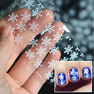 5 Nail Decals Christmas Nail Sticker As Picture (color may vary by monitor) Transparent Nail Decoration