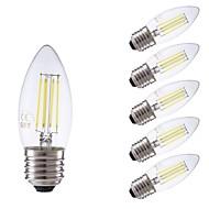 お買い得  -GMY® 6本 3.5W 400lm E27 フィラメントタイプLED電球 C35 4 LEDビーズ COB 調光可能 装飾用 LEDライト クールホワイト 220-240V