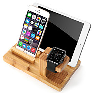 お買い得  Apple Watch用マウント&ホルダー-ウォッチスタンドアップルウォッチシリーズ1 2 ipad iphone 7 6 plus 5 5s 5c木製スタンドオールインワン1 38mm / 42mmケーブル付き