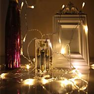 voordelige LED-snoerverlichting-Waterdicht 40 LEDs 4M String Light Warm wit Koel wit Blauw Groen Rood Decoratief Kerst Bruiloft Decoratie Op Netstroom Batterijen