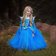 cheap Cosplay & Costumes-Princess Cinderella Fairytale Dress Kid's Christmas Masquerade Birthday Festival / Holiday Halloween Costumes Blue Pink Color Block