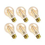 お買い得  -GMY® 6本 2.5W 160lm E26 フィラメントタイプLED電球 A19 2 LEDビーズ COB 調光可能 装飾用 LEDライト 温白色 110-130V