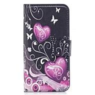 Недорогие Кейсы для iPhone 8-Кейс для Назначение Apple iPhone X / iPhone 8 / iPhone 8 Plus Кошелек / Бумажник для карт / со стендом Чехол С сердцем / Цветы Мягкий Кожа PU для iPhone X / iPhone 8 Pluss / iPhone 8