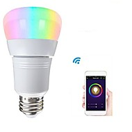 abordables Ampoules Intelligentes LED-1pc 8W 500lm E26 / E27 Ampoules LED Intelligentes 22 Perles LED SMD 2835 Fonctionne avec Amazon Alexa / Contrôle de l'APP / Google Home