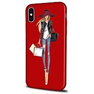 Недорогие Кейсы для iPhone 8 Plus-Кейс для Назначение Apple iPhone X iPhone 8 Plus С узором Кейс на заднюю панель Соблазнительная девушка Мультипликация Мягкий ТПУ для
