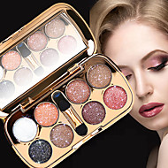 8 Paleta de Sombras de Ojos Brillo Paleta de sombra de ojos Polvo Maquillaje de Diario Maquillaje de Halloween Maquillaje de Fiesta