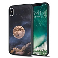 Недорогие Кейсы для iPhone 8 Plus-Кейс для Назначение Apple iPhone X / iPhone 8 Plus С узором Кейс на заднюю панель Цвет неба Мягкий ТПУ для iPhone X / iPhone 8 Pluss / iPhone 8