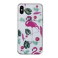 Кейс для Назначение Apple iPhone X iPhone 8 IMD С узором Задняя крышка Фламинго Сияние и блеск Мягкий TPU для iPhone X iPhone 8 Pluss