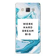Недорогие Чехлы и кейсы для Galaxy A5(2016)-Кейс для Назначение SSamsung Galaxy A7(2017) С узором Кейс на заднюю панель Слова / выражения / Мрамор Мягкий ТПУ для A3 (2017) / A5