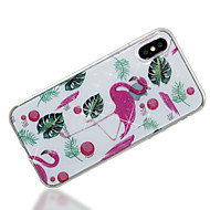 Case For Apple iPhone X iPhone 8 IMD Pattern Back Cover Flamingo Glitter Shine Soft TPU for iPhone X iPhone 8 Plus iPhone 8 iPhone 7 Plus