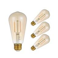 お買い得  -GMY® 4本 2 W 180 lm E27 フィラメントタイプLED電球 ST58 2 LEDビーズ COB LEDライト / 装飾用 / エジソン球根 温白色 220-240 V / RoHs