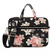 cheap Laptop Gadgets-13.3 14.1 15.6 inch Rose Pattern Laptop Shoulder Bag with Strap Hand Bag for Surface/Dell/HP/Samsung/Sony etc