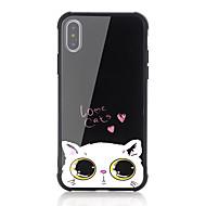 Недорогие Кейсы для iPhone 8-Кейс для Назначение Apple iPhone X iPhone 8 Защита от удара С узором Кейс на заднюю панель Кот Слова / выражения С сердцем Твердый
