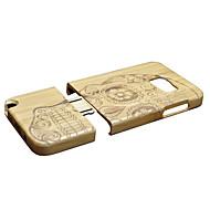 olcso Galaxy Note tokok-Case Kompatibilitás Samsung Galaxy Note 5 Ütésálló Fekete tok Koponya Kemény Bambusz mert Note 5