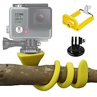 お買い得  スポーツカメラ & GoPro 用アクセサリー-Action Camera / Sports Camera キット フレキシブルクランプ 屋外 長さ調整可 ケース 多機能 折りたたみ式 ために アクションカメラ ゴプロ6 すべてのアクションカメラ フリーサイズ Gopro 5 Gopro 4 Black Gopro 4