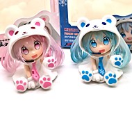 Anime Action Figures Inspired by Vocaloid Snow Miku PVC 7 CM Model Toys Doll Toy