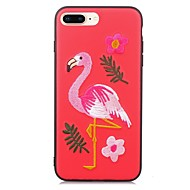 Недорогие Кейсы для iPhone 8-Кейс для Назначение Apple iPhone X iPhone 8 С узором Кейс на заднюю панель Фламинго Животное Мягкий ТПУ для iPhone X iPhone 8 Pluss