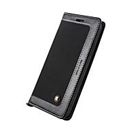 billige -Etui Til Apple iPhone X iPhone 8 Kortholder Lommebok med stativ Flipp Heldekkende Helfarge Hard Kunstlær til iPhone X iPhone 8 Plus