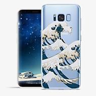 olcso Galaxy S6 Edge Plus tokok-Case Kompatibilitás Samsung Galaxy S8 Plus S8 Minta Fekete tok Vonalak / hullámok Látvány Puha TPU mert S8 Plus S8 S7 edge S7 S6 edge