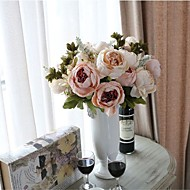 abordables Flores Artificiales-Flores Artificiales 1 Rama Modern Peonías Flor de Mesa
