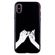 Недорогие Кейсы для iPhone 8 Plus-Кейс для Назначение Apple iPhone X iPhone 8 Матовое С узором Рельефный Кейс на заднюю панель Соблазнительная девушка Мягкий ТПУ для