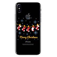 abordables Moda en Tendencia-Funda Para Apple iPhone X / iPhone 8 Transparente / Diseños Funda Trasera Navidad Suave TPU para iPhone X / iPhone 8 Plus / iPhone 8
