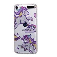 お買い得  iPod 用ケース/カバー-ケースアップルipod touch5 / 6ケースカバーハイ浸透パウダーimdレインボーホースソフトtpuの電話ケース