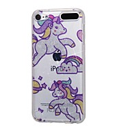 preiswerte iPod-Hüllen / Cover-Fall für Apple iPod touch5 / 6 Fall Abdeckung hohe durchdringende Pulver IMD Regenbogen Pferd weichen TPU Telefon Fall