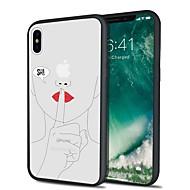 Недорогие Кейсы для iPhone-Кейс для Назначение Apple iPhone X iPhone 8 Plus С узором Задняя крышка Соблазнительная девушка Мультипликация Мягкий TPU для iPhone X