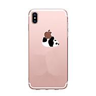 Недорогие Кейсы для iPhone 8 Plus-Кейс для Назначение Apple iPhone X iPhone 8 iPhone 8 Plus Ультратонкий Прозрачный С узором Кейс на заднюю панель Панда Мягкий ТПУ для