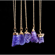 cheap -Women's Crystal Pendant Necklace Ladies Simple Elegant Pink Turquoise Transparent Necklace Jewelry One Panel For Daily Formal