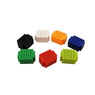 お買い得  -ZY-25 DIY半田レス組立25穴ミニパンチボードテストボード - マルチカラー(1セット)