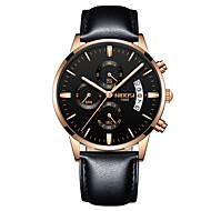 billige Pæne ure-Herre Quartz Armbåndsur Kinesisk Kalender / Kronograf / Vandafvisende / Afslappet Ur / Selvlysende i mørke / Selvlysende Rustfrit stål