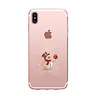 abordables Fundas para iPhone 8-Funda Para Apple iPhone X iPhone 8 iPhone 8 Plus Ultrafina Transparente Diseños Funda Trasera Navidad Suave TPU para iPhone X iPhone 8
