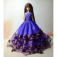 abordables Muñecas y juguetes rellenos-Fiesta/Noche Vestidos por Muñeca Barbie  Vestidos por Chica de muñeca de juguete