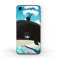 olcso iPhone kijelzővédők-1 db Tok matrica mert Karcolásvédő Olajfestmény Minta Matt PVC iPhone 7