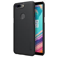 お買い得  携帯電話ケース-ケース 用途 OnePlus OnePlus 5T 5 つや消し バックカバー 純色 ハード PC のために One Plus 5 OnePlus 5T