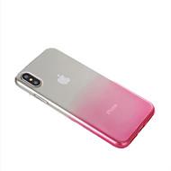Недорогие Кейсы для iPhone 8 Plus-Кейс для Назначение Apple iPhone X iPhone 8 Ультратонкий Полупрозрачный Кейс на заднюю панель Градиент цвета Мягкий ТПУ для iPhone X