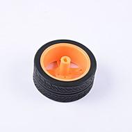 お買い得  Arduino 用アクセサリー-カニ王国®ディー教育車パーツ車輪タイヤモータータイヤ1個黒とオレンジ#2