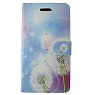 preiswerte Handyhüllen-Hülle Für Huawei P8 Lite Geldbeutel / Kreditkartenfächer / mit Halterung Löwenzahn / Blume Hart PU-Leder für Huawei