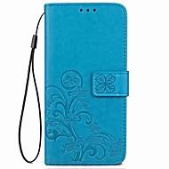 お買い得  携帯電話ケース-ケース 用途 OnePlus ワンプラス3 OnePlus 5T 5 カードホルダー スタンド付き 磁石バックル エンボス加工 フルボディーケース フラワー ハード PUレザー のために One Plus 5 OnePlus 5T One Plus 3 OnePlus