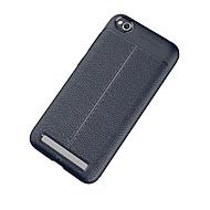 お買い得  携帯電話ケース-ケース 用途 Xiaomi Mi 5X つや消し / エンボス加工 バックカバー ソリッド ソフト TPU のために Xiaomi Mi Max 2 / Mi 6 Plus / Xiaomi Mi 6 / Xiaomi Mi 5s
