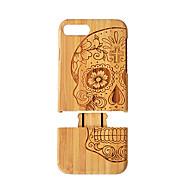 Недорогие Кейсы для iPhone 8 Plus-Кейс для Назначение Apple iPhone 8 Plus iPhone 7 Plus Защита от удара Имитация дерева Твердый для
