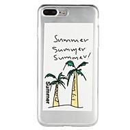 Недорогие Кейсы для iPhone 8-Кейс для Назначение Apple iPhone 6 iPhone 7 Полупрозрачный С узором Рельефный Кейс на заднюю панель Слова / выражения дерево