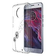 お買い得  携帯電話ケース-ケース 用途 Motorola E4 Plus 5 パターン バックカバー タンポポ ソフト TPU のために Moto X4 Moto E4 Plus Moto E4