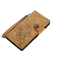 Недорогие Чехлы для телефонов-Кейс для Назначение Sony Z5 Sony Xperia XZ1 Xperia XA1 Бумажник для карт Кошелек со стендом Флип Магнитный С узором Чехол Цветы Твердый