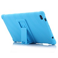 cheap Tablet Accessories-Wave Pattern Pattern Silicone Rubber Gel Skin Case Cover with Holder for Lenovo Tab 4 8 (TB-8504) 8.0 inch Tablet PC