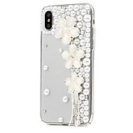 Недорогие Кейсы для iPhone 8 Plus-Кейс для Назначение Apple iPhone X iPhone 8 Plus Стразы С узором Чехол Цветы Твердый Кожа PU для iPhone X iPhone 8 Pluss iPhone 8 iPhone