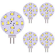 abordables Paquetes de Bombillas-5pcs 2W 180lm G4 Luces LED de Doble Pin 12 Cuentas LED SMD 2835 Luz LED Blanco Cálido Blanco Fresco 12V