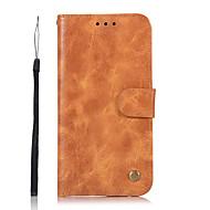 Недорогие Чехлы и кейсы для Galaxy S8-Кейс для Назначение SSamsung Galaxy S8 Plus S8 Кошелек Бумажник для карт со стендом Флип Чехол Сплошной цвет Твердый Искусственная кожа